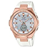Ladies' Casio Baby-G G-MS White and Rose-Tone Watch MSGS200G-7A