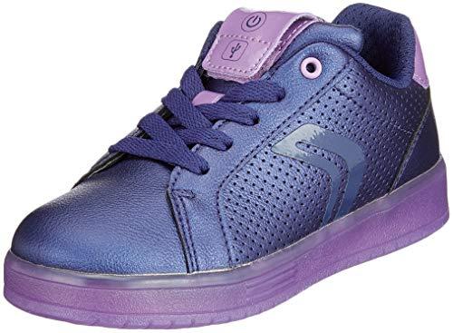 Geox Mädchen J KOMMODOR Girl A Sneaker, Blau (Navy/Violet C4267), 37 EU