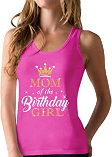 Mom of The Birthday Girl Outfit Mommy Racerback Tank Top