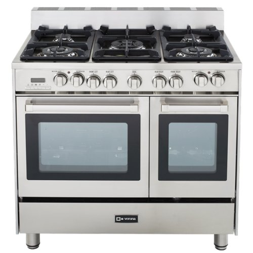 Verona VEFSGE365DSS 36 inch Double Oven Dual Fuel...