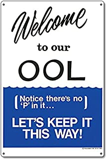 Best welcome to the pool sign Reviews
