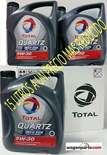 """""""TRIPLO"""" TOTAL QUARTZ INEO ECS 5W30 15 litri (3x5 lts)"""