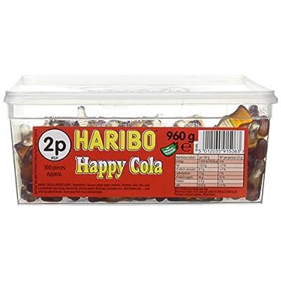 haribo happy cola bottles tub sweets, 960g Haribo Happy Cola Bottles Tub Sweets, 960g 51hmIjFG4 L