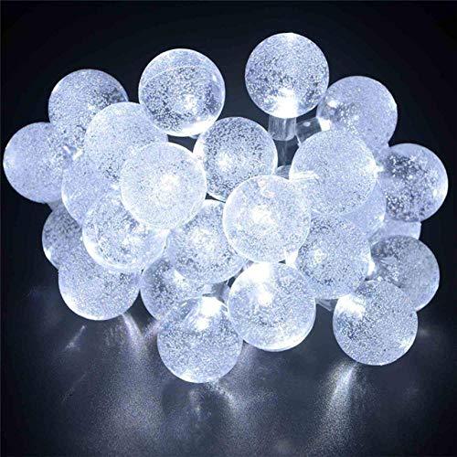 GFSDDS kerstverlichting LED Festival Crystal Ball LED lichtketting Solar Deko Waterdicht Outdoor White