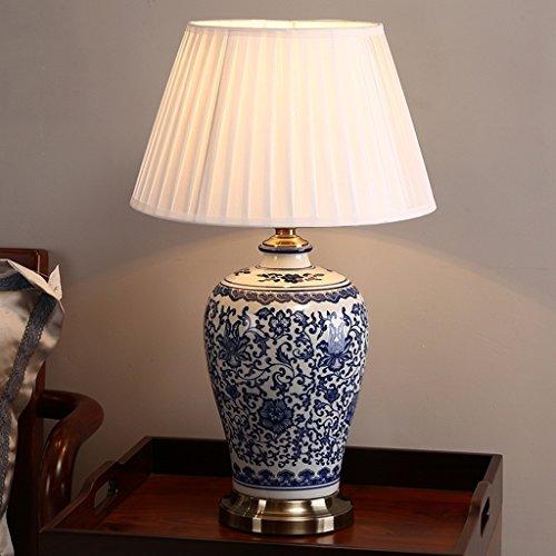 Blaues und weißes Porzellan Kreative Keramik Tischlampe Schlafzimmer Nachttisch Lichtdekoration Schreibtischleuchten