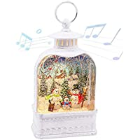 CaiFang Christmas Snow Glitter Globe with Swirling Glitter