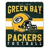 NFL Green Bay Packers Singular Fleece Throw, 50-inch by 60-inch, Green