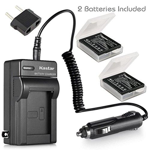 Kastar Battery 2X + Charger for Panasonic Lumix CGA-S005 CGA-S005A/1B CGA-S005E CGA-S005GK DMW-BCC12 & Lumix DMC-FS1 DMC-FS2 DMC-FX01 DMC-FX07 DMC-FX1 DMC-FX3 DMC-FX180 DMC-LX1 DMC-LX3