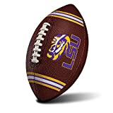 Franklin Sports NCAA LSU Tigers Kids Youth Football - Official College Team Football with Team Logos - Junior Size Football