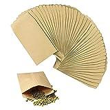 Rayong 100 Piezas Sobres de papel kraft, Bolsas De Regalo Mini Bolsa de Papel Kraft Papel Kraft Vintage para Recoger de Muestras de Plantas y Semillas