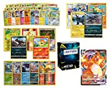 VMAX Pokemon Cards Bundle 100+ Cards= 100 Cards + 5 foil Cards, 5 Rare Cards, 5 Holographic Rare Cards 1 Random VMax Card ( 300 HP or Higher) Plus a Lightning Card Collection's Deck Box…
