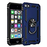 Imguardz Case for iPod Touch 7th/6th/5th Generation, Heavy Duty Shockproof Rugged Protective Cover with Built-in Kickstand for iPod Touch 7/6/5, Navy Blue