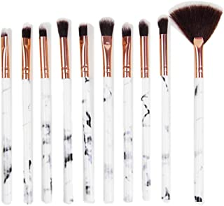 STELLAIRE CHERN Makeup Brush 10 piece Professional Marble Makeup Brushes Eyebrow Blush Contour Fan Shape Brush