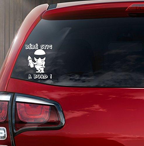 Sticker autocollant blanc \