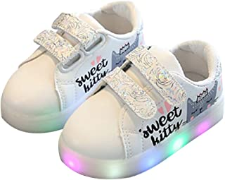 Children's shoes, casual shoelace lights, LED Boys' Girl's shoes, toddler shoes