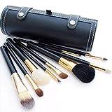 Wonepic Maquillaje Sistemas de Cepillo 9 Maquillaje de Las PC cepillos del Viaje de Cepillo del Maquillaje del Sistema de Cepillo del Cilindro Brocha Fundación Brush Brocha Rubor