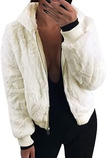 LENXH Women's Hooded Faux Fur Coat Solid Color Plush Sweater Fashion Elegant Shirt Winter Sexy Warm Jacket