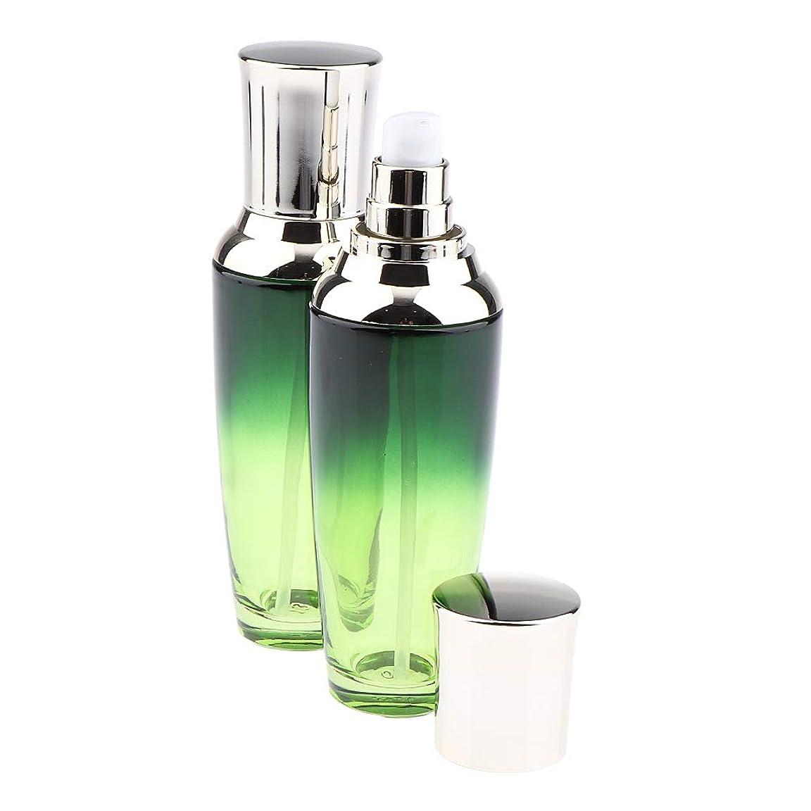 分子ピース機械的SM SunniMix 全3サイズ 小分け容器 詰め替 ポンプボトル ガラスボトル 化粧品容器 ガラス製 2個入り - 100ミリリットル
