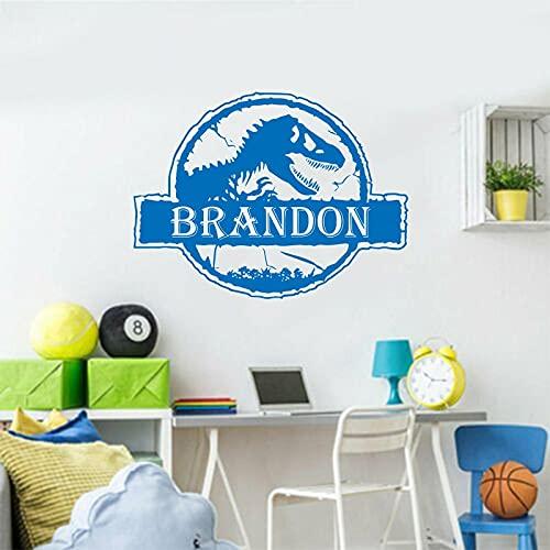 Nombre pegatina de pared niños personalidad póster Mural vinilo tallado apliques papel tapiz artístico adhesivo de fondo para el hogar A2 43x57cm