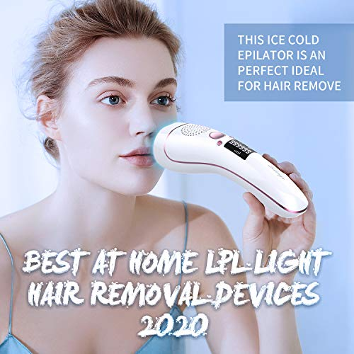 Ice Hair Removal at-Home for Women Permanent IPL Hair Removal Upgrade to 999,999 Flashes Professional Hair Remover Device Care with Icing Sense Painless Treatment Facial Body and Whole Body