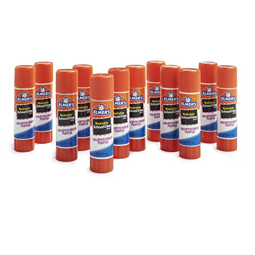 Elmer's Disappearing Purple School Glue, Washable, 12 Pack (E1559)