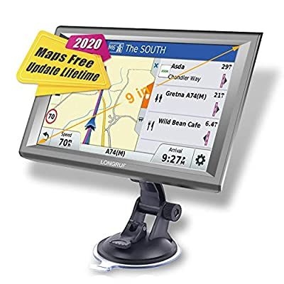 GPS Navigation for Car Trucking GPS Navigation 9inch Truck GPS Touchscreen Trucking GPS 8GB ROM SAT NAV System Navigator Driving Alarm Lifetime Map Updates Truck GPS Navigation System for Trucks