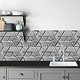 Fantastic Glass Tile 10 - Piece 12.8' X 11.2' X 8 mm Sea Jasper Beautiful Kitchen Backsplash and Bathroom Glass Mosaic Tiles in Silver Finish