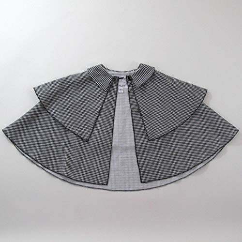 Sherlock Holmes Detective Cape, Houndstooth Cloak for Girls or Boys, Toddler, Plaid Cape, Cape Coat, Halloween Costume,