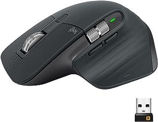 Logitech MX Master 3 för Mac avancerad trådlös mus, Bluetooth eller 2,4 GHz USB-mottagare, Ultrasnabb scroll, 4000 DPI, Er...