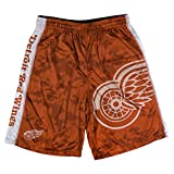 KLEW NHL Detroit Red Wings Big Logo Polyester Shorts, Large, Red