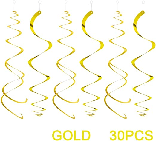 Spiral Luftschlangen Birthday Party Supplies Hochzeitsdekorationen f/ür Geburtstag Hochzeit Tweal Spiral Girlanden,30 PCS Multicolor Hanging Swirl Partydekorationen