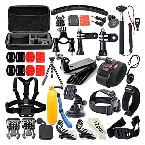 50 en 1 Accesorios de Gopro Kit de Montaje en el Cofre para Gopro Hero 8 7 Negro 5 Xiaomi Yi 4K Go Pro Sony X3000 Acción Cámara Acción Accesorio (Color : 50 in 1for Gopro, Size : Kit for go Pro)