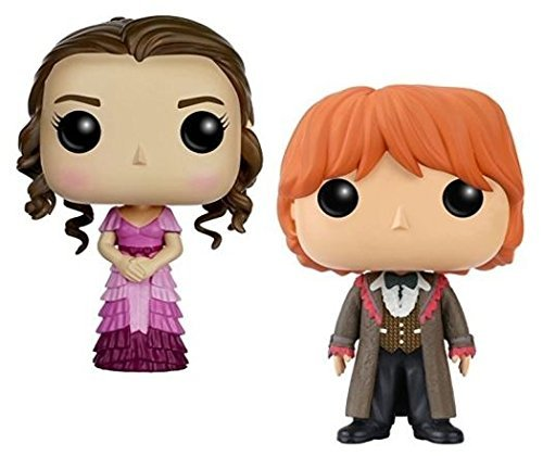 Funko POP! Harry Potter: Hermione Granger & Ron Weasley (Yule Ball) - Stylized Vinyl Figure Set NEW