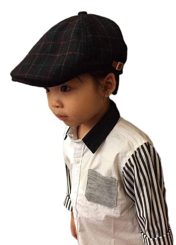 YiyiLai ハンチング ハット キッズ ベースボールキャップ 女の子 ベビー帽子 野球帽 男の子 秋冬