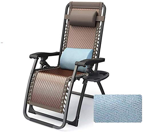 JJSFJH Reclinable Ajustable Plegable con Almohadas y Soporte Lumbar for porches Exteriores de Garaje, terrazas, Jardines, tamaño: Rota