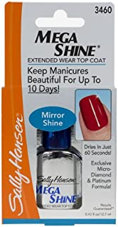 Sally Hansen Mega Shine Extended Wear Top Coat, Clear [3460], 0.43 oz