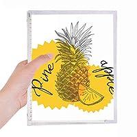 黄色の果実pineapple描画 硬質プラスチックルーズリーフノートノート