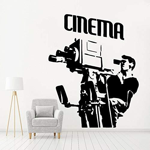 Blrpbc Adhesivos Pared Pegatinas de Pared Arte de Cine Decoración del hogar para Sala de Estar Compañía Escuela Accesorios de decoración de Dormitorio de Vinilo Fresco 84x66cm