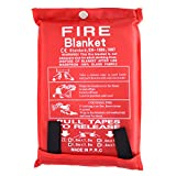 Large Fire Extinguisher Blanket. Chemical Free, No Mess, Easy to Store,...