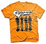 Oficialmente Licenciado Clockwork Naranja Shadows Camiseta para Hombre (Naranja), Small