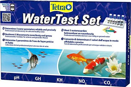 Tetra watertestset (voor betrouwbare en nauwkeurige bepaling van vijf beslissende waterwaarden in het aquarium, professioneel testlaboratorium voor veilig en gezond water)