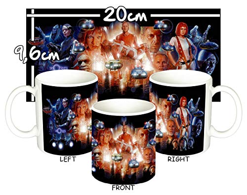 MasTazas El Quinto Elemento The Fifth Element Bruce Willis Milla Jovovich Taza Mug
