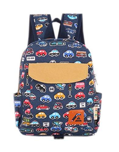 Fancyland Kindergartenrucksack Kinderkoffer Kinder Rucksack Kinderrucksack Kindergartentasche Mini Backpack Print Meeresböden (Auto)