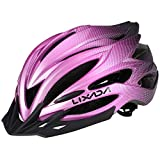 Lixada Cycling Helmet MTB Bike Helmet with Rear Light Sun Visor Breathable Women