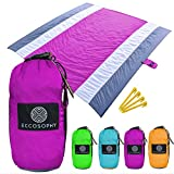 Best Beach Blanket Sand Frees - ECCOSOPHY Sand Proof Beach Blanket - Oversized S Review