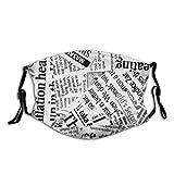 Ancient Newspaper Funny Print Face Mask Bandanas...