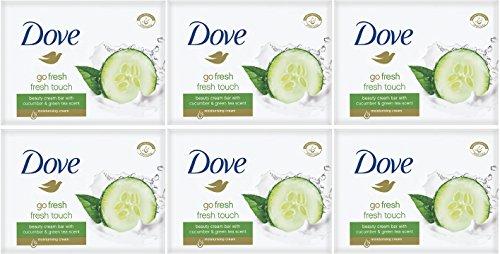 Dove Go Fresh Fresh Touch Pepino y aroma de te verde, jabon de barra (6 unidades)
