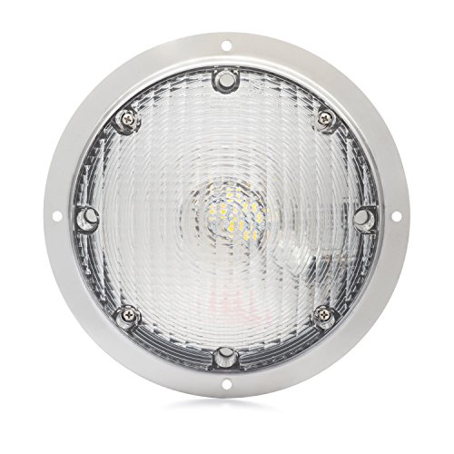 Lumitronics RV LED Surface Mount Porch Scare Light with Mounting Gasket