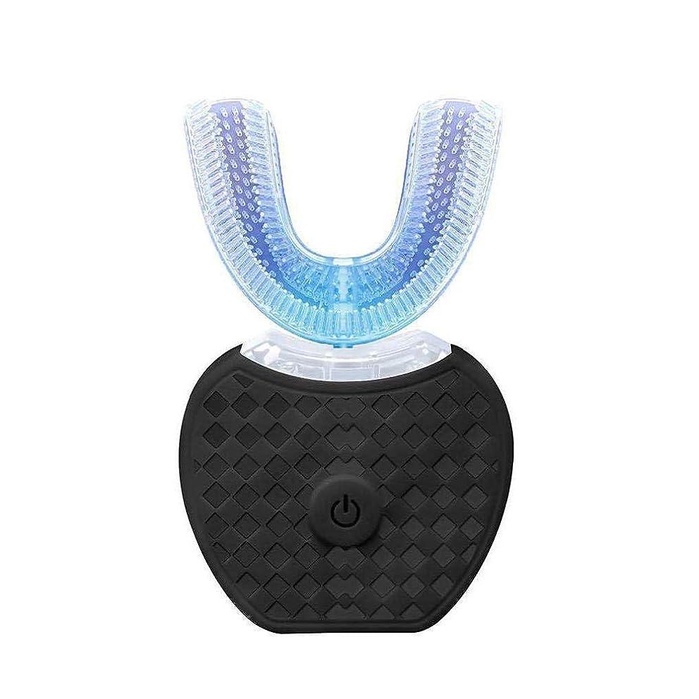 上げるマカダム収縮PUERI 超音波電動歯ブラシ アップグレード 口腔洗浄器 全自動周波数変換 360°防水歯冷光白色化装置 U型自動歯ブラシ 虫歯予防 歯磨き粉付き