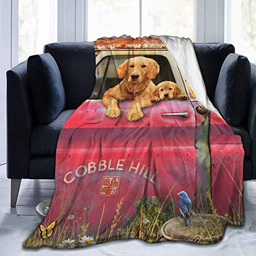 AEMAPE Manta de Tiro - Cobble Hill Farm Fleece Throw Blanket, Manta de Microfibra Ultra Suave súper Suave para Dormitorio SOFE